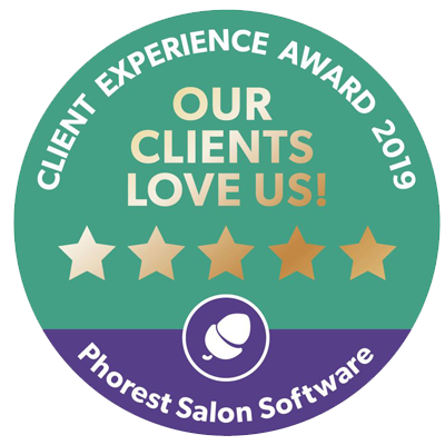 phorest salon software client experience award badge 2019